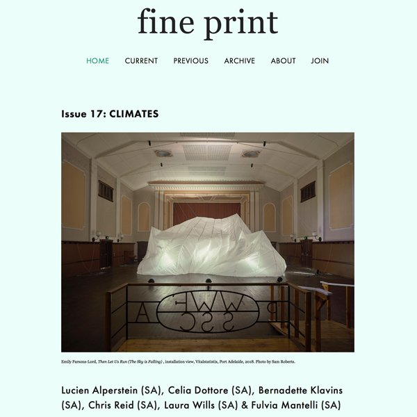 Fine print magazine Issue 17 Climates